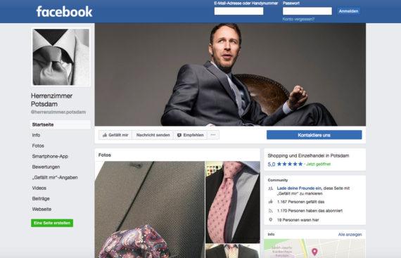 Herrenzimmer Potsdam Facebook Portfolio Cover