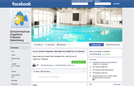 Schwimmschule Kugelfisch Facebook