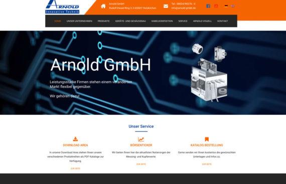 Portfolio Cover Arnold GmbH