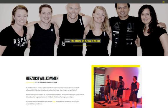Portfolio Cover The Home of Group Fitness