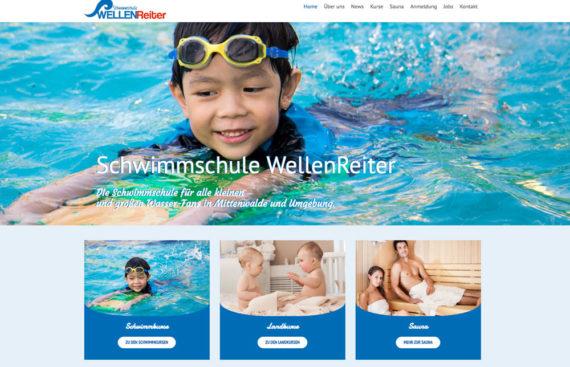 Portfolio Cover Schwimmschule WellenReiter